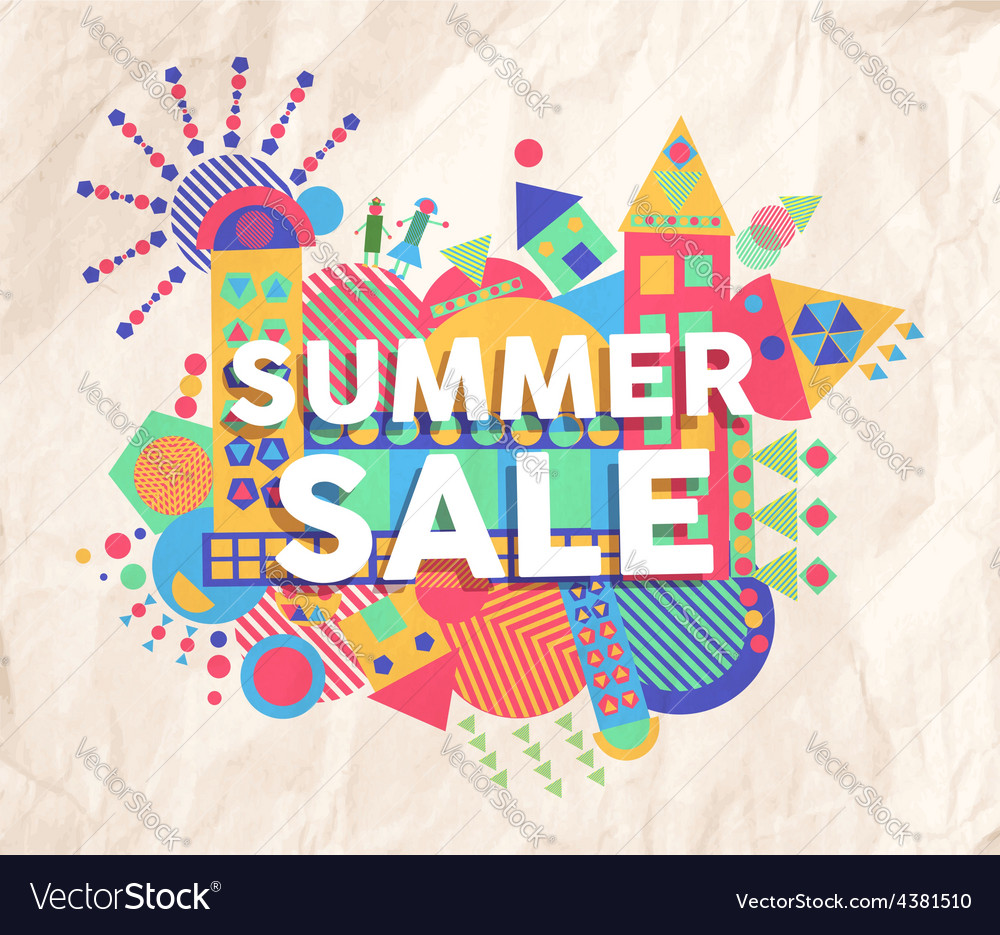 Summer sale quote poster design vector | Price: 1 Credit (USD $1)