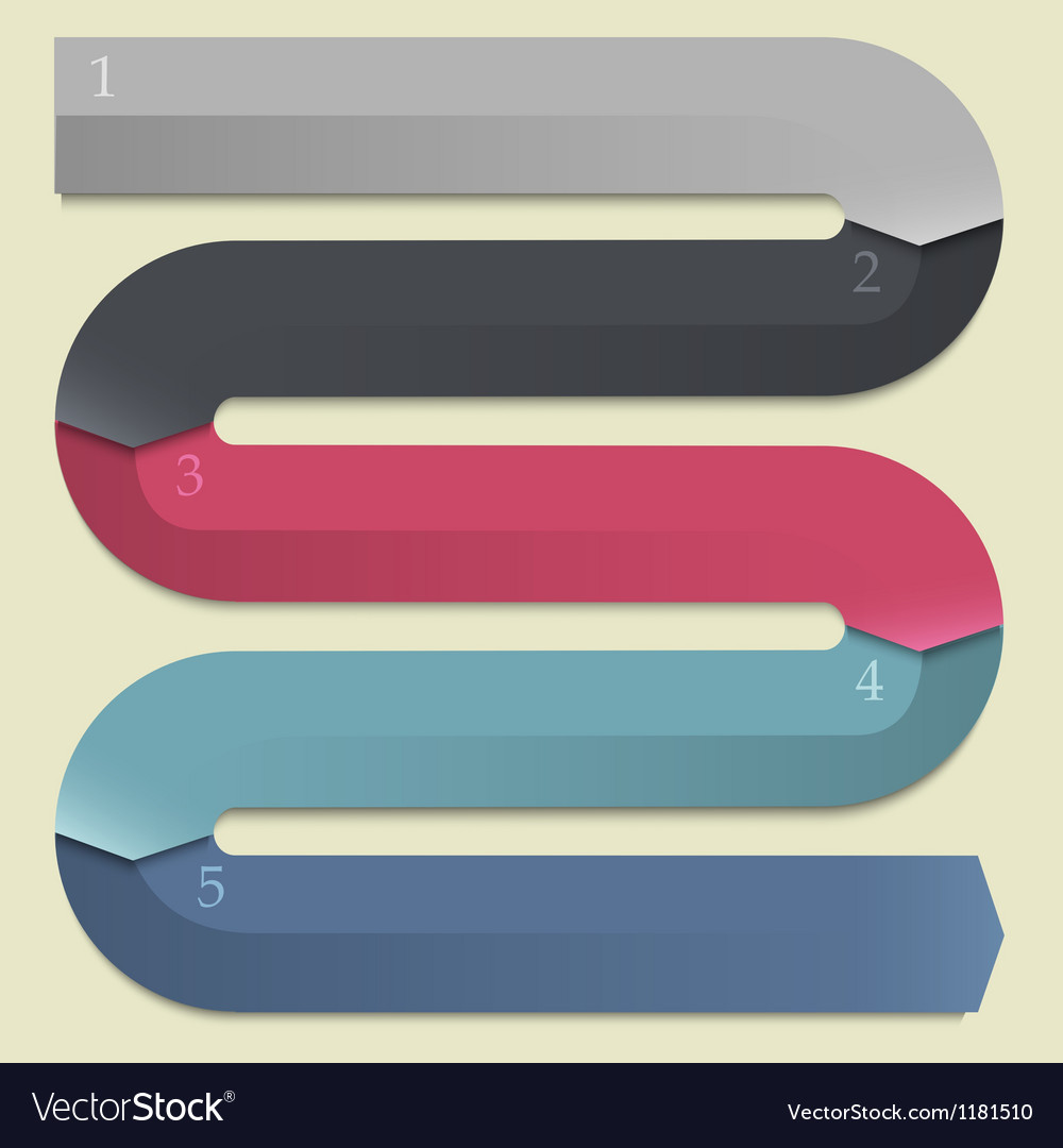 Trendy design banners arrows for infographics vector | Price: 1 Credit (USD $1)