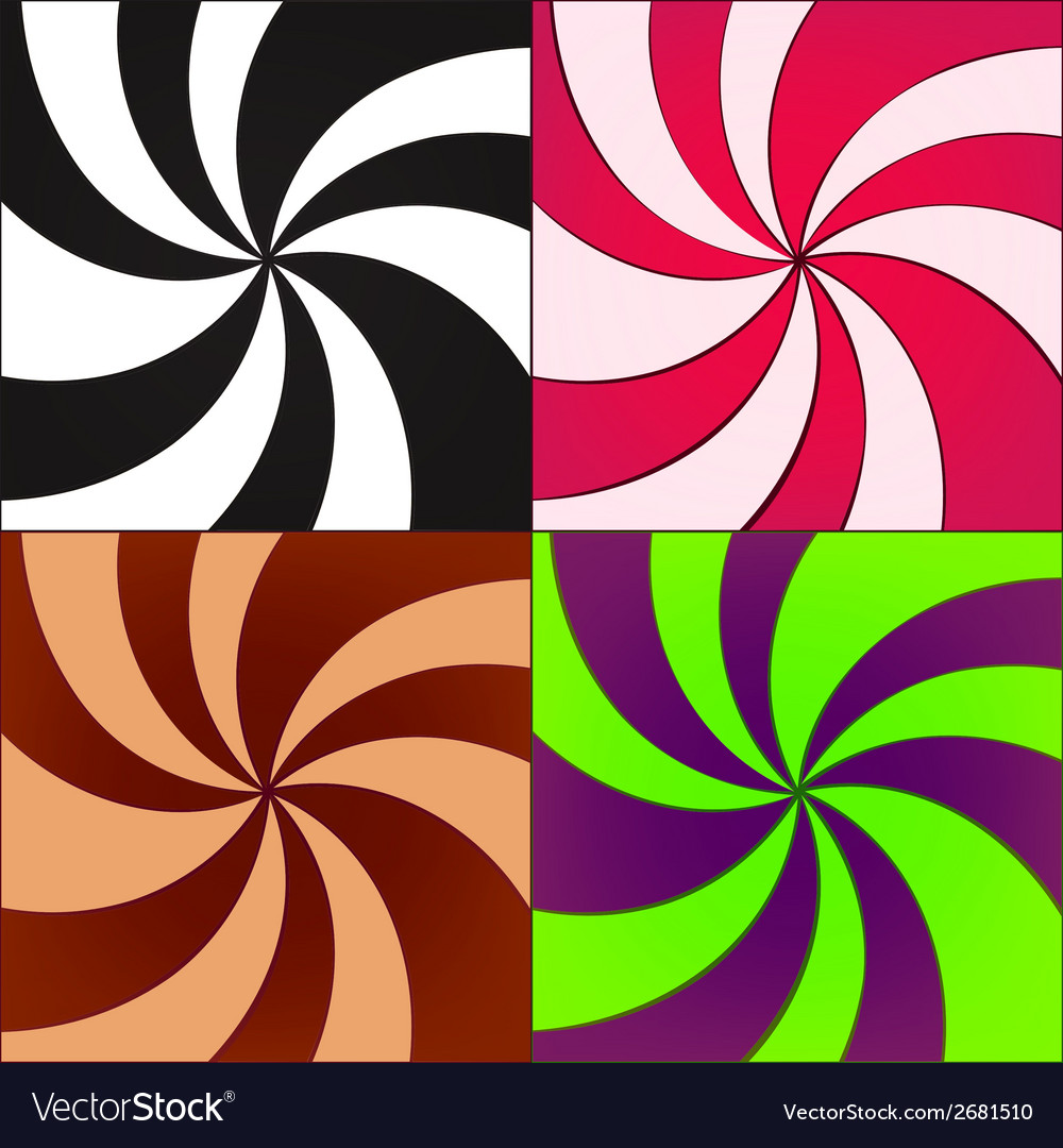 Twirled backgrounds vector | Price: 1 Credit (USD $1)