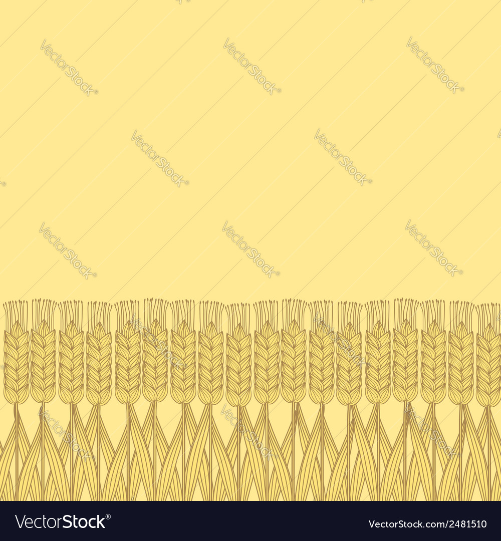 Wheat harvest background vector | Price: 1 Credit (USD $1)