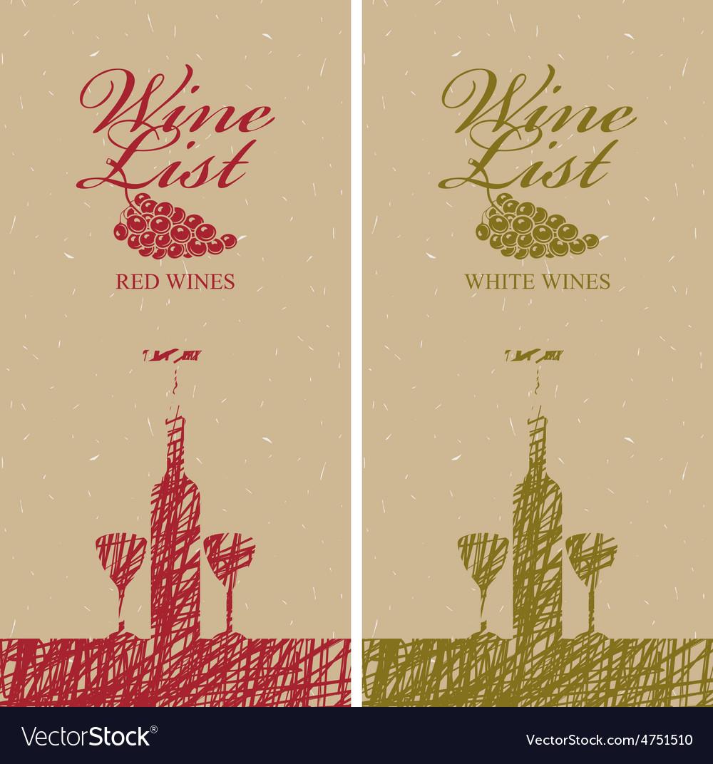Wine list vector   Price: 1 Credit (USD $1)