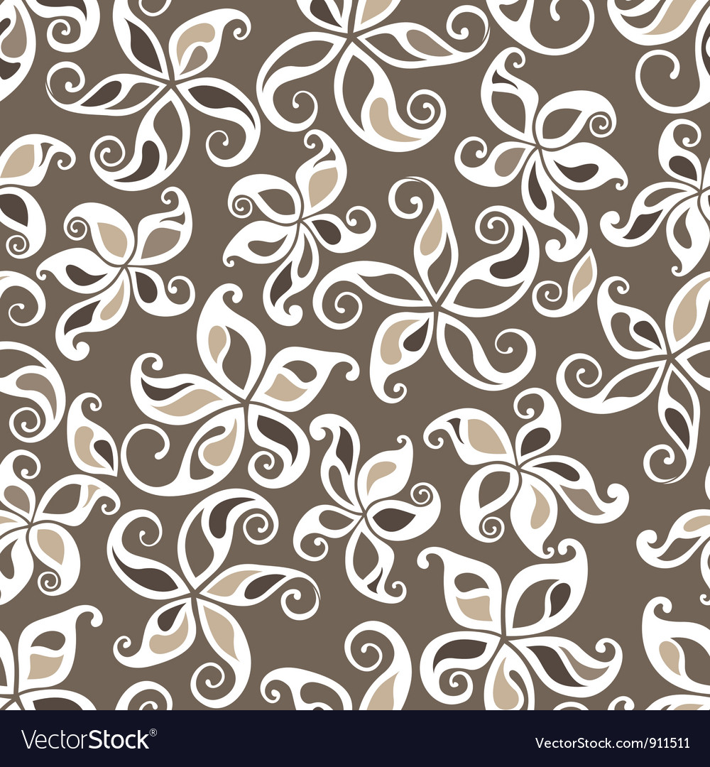 Excellent seamless floral background vector | Price: 1 Credit (USD $1)