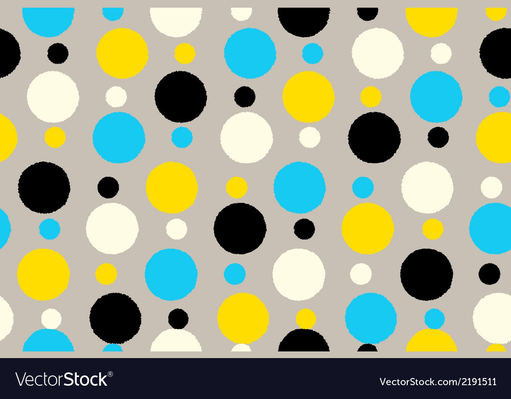 Geometric seamless pattern background grungy polka vector | Price: 1 Credit (USD $1)