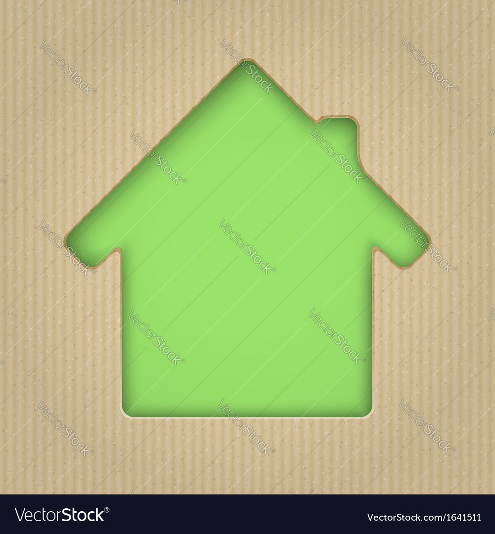 House cut out of cardboard vector | Price: 1 Credit (USD $1)