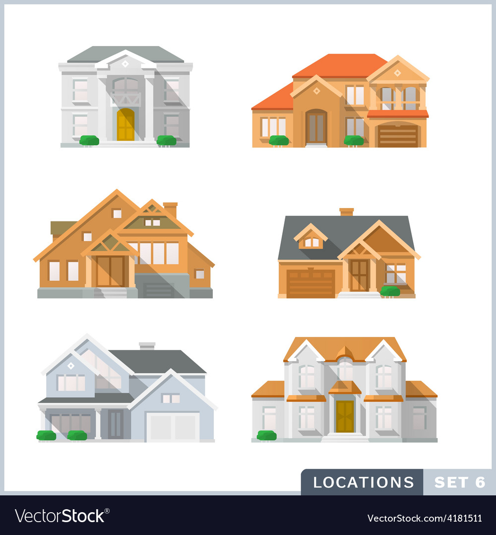 House icon set2 vector | Price: 1 Credit (USD $1)