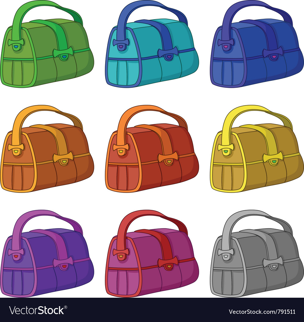 Leather bag set vector | Price: 1 Credit (USD $1)