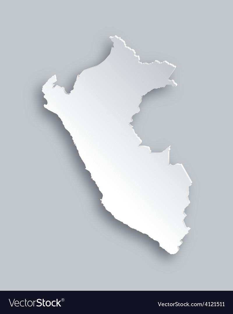 Map of peru vector   Price: 1 Credit (USD $1)