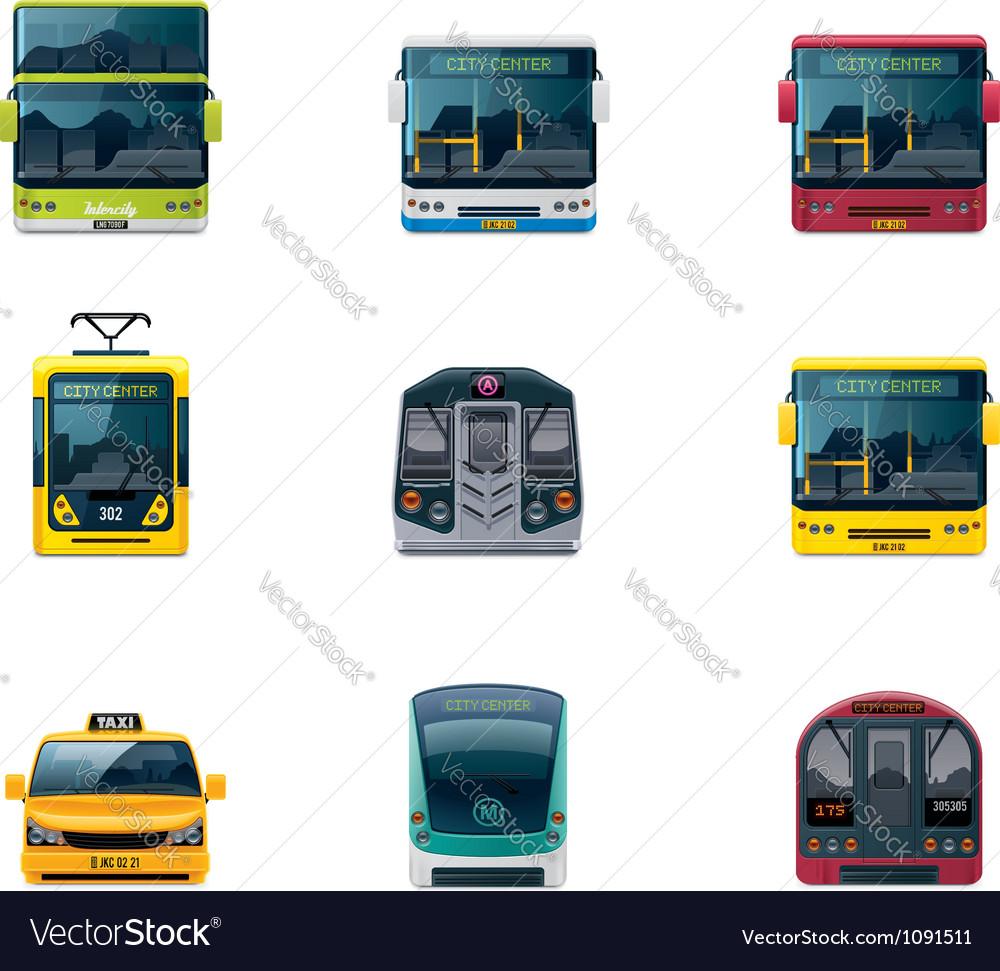 Public transport icons vector | Price: 3 Credit (USD $3)