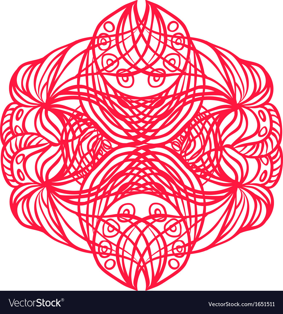 Red tangle pattern vector | Price: 1 Credit (USD $1)