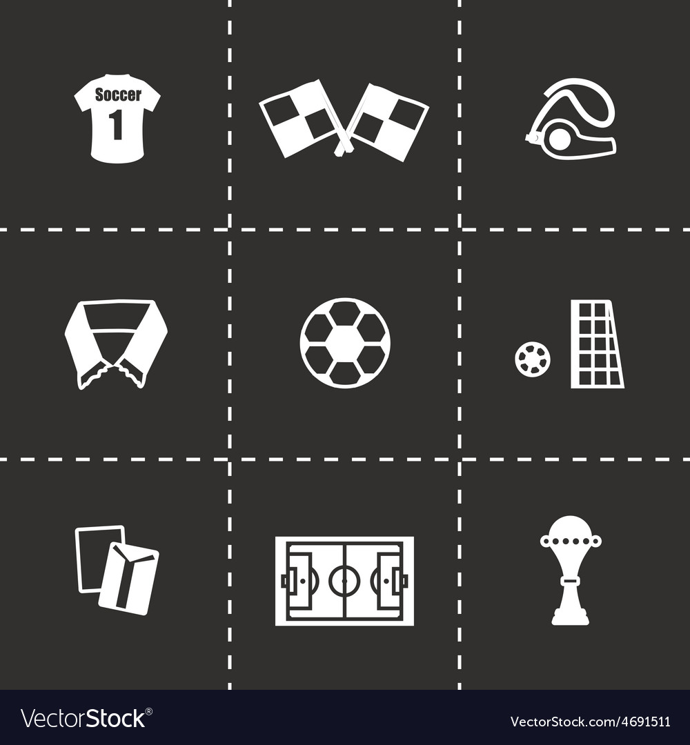Soccer icon set vector | Price: 1 Credit (USD $1)