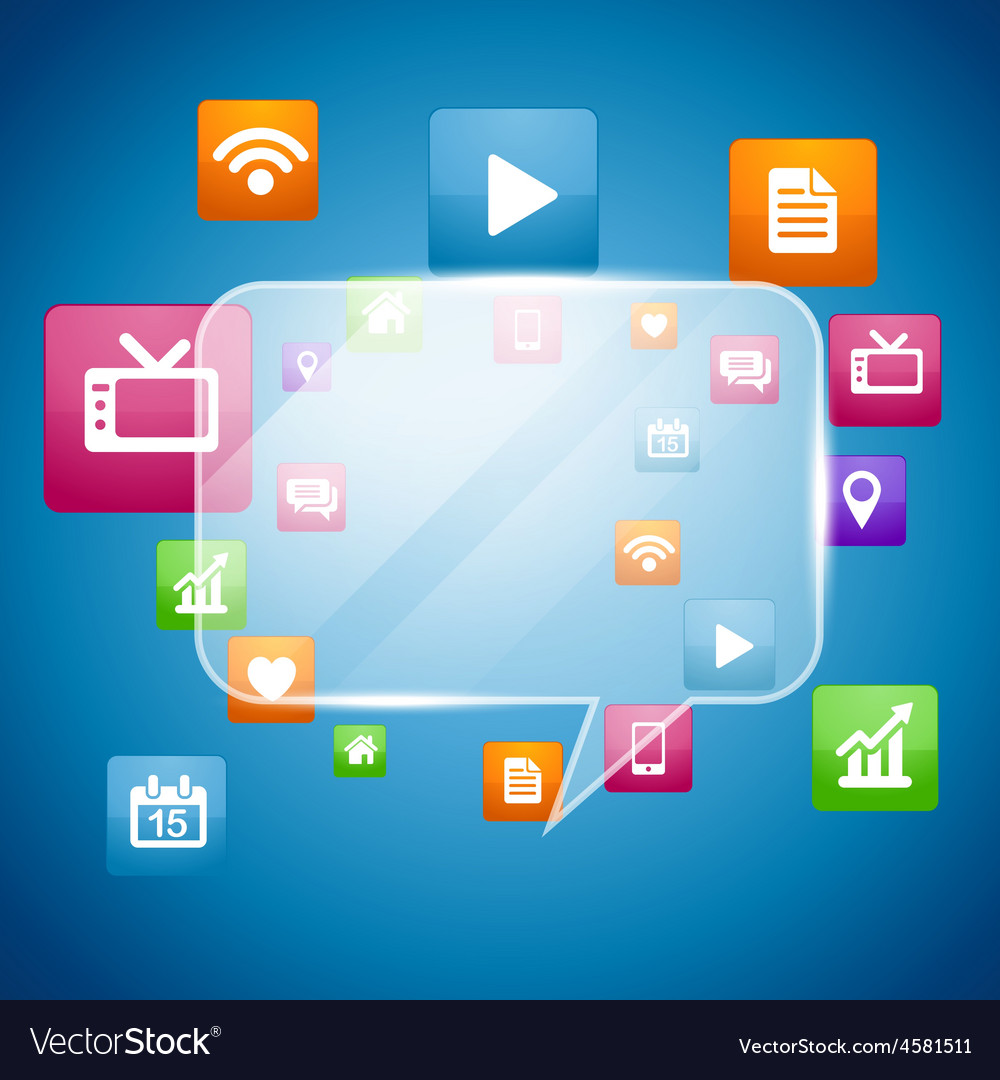 Social media concept design vector   Price: 1 Credit (USD $1)