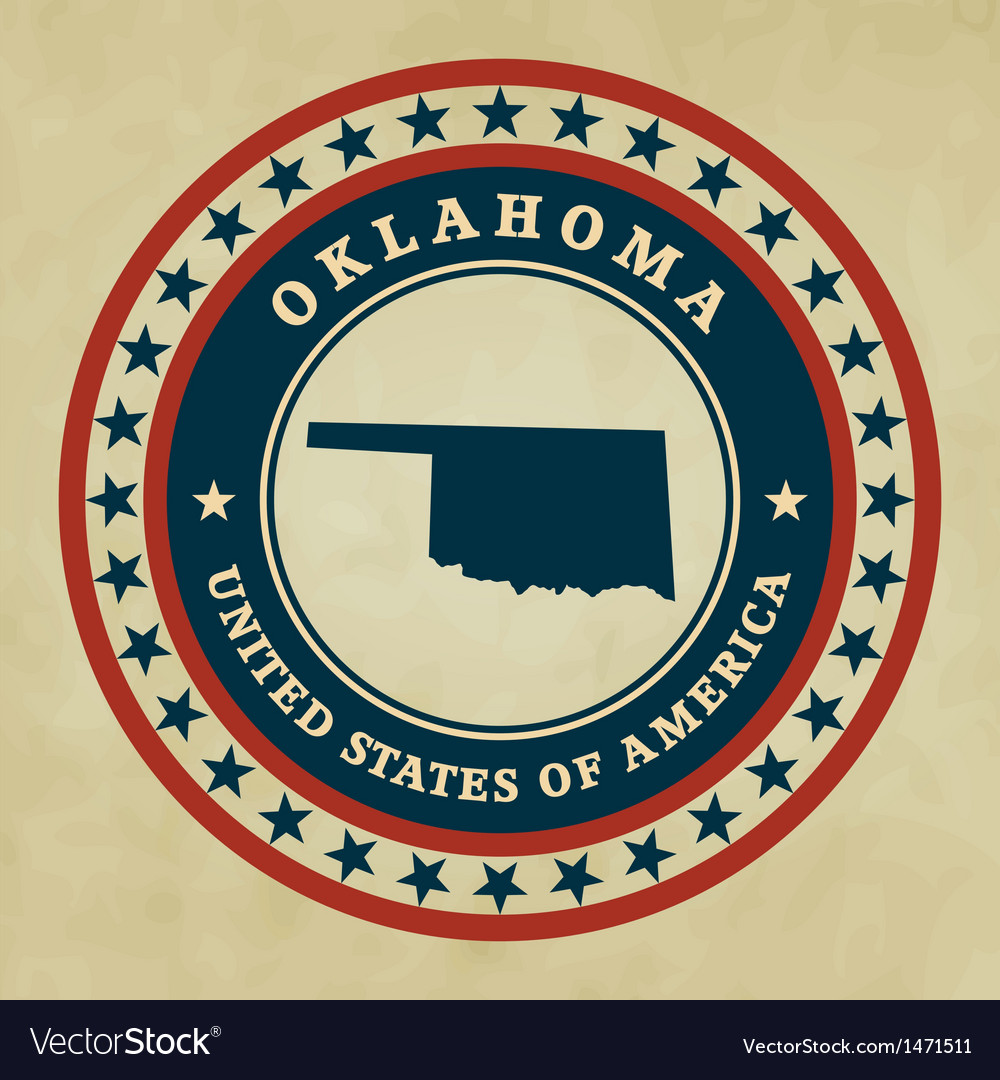 Vintage label oklahoma vector | Price: 1 Credit (USD $1)