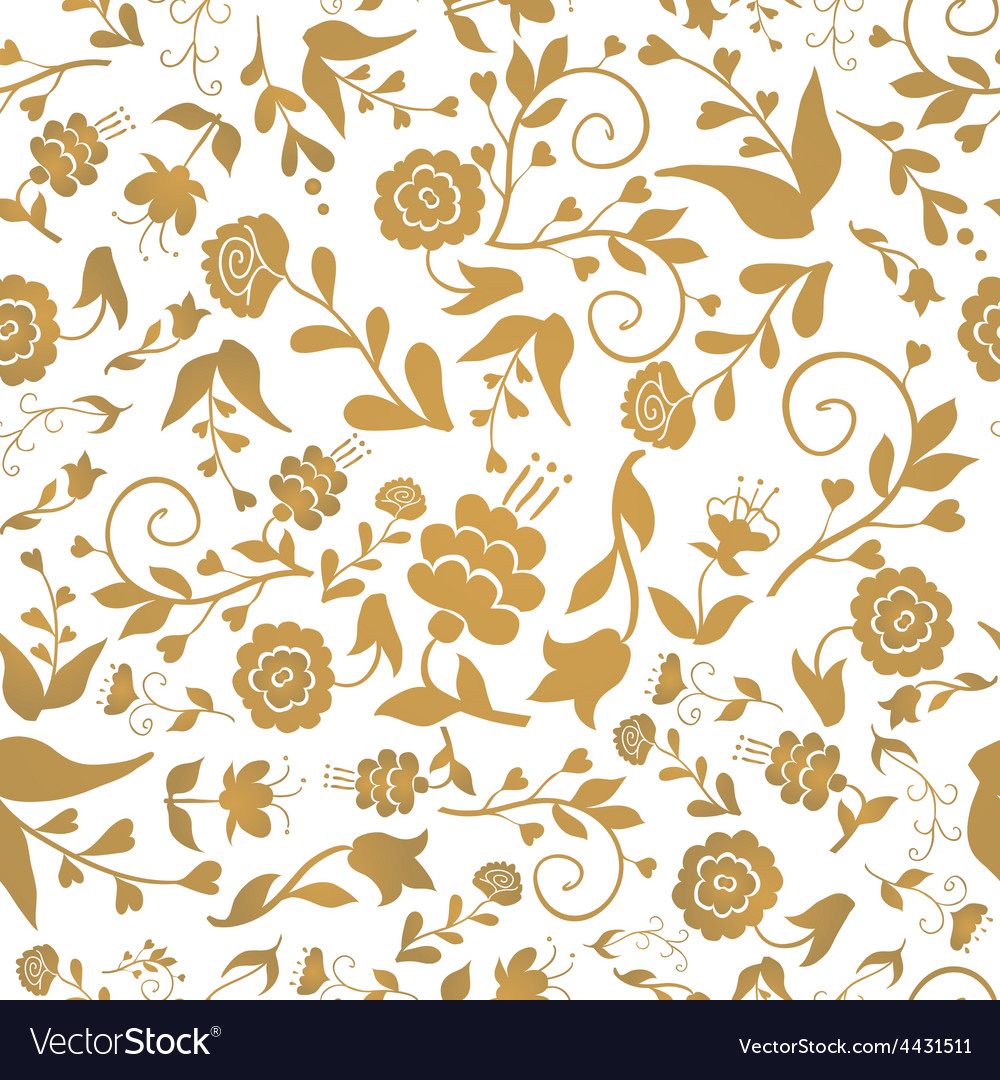 Vintage seamless pattern with flowers on a white vector | Price: 1 Credit (USD $1)