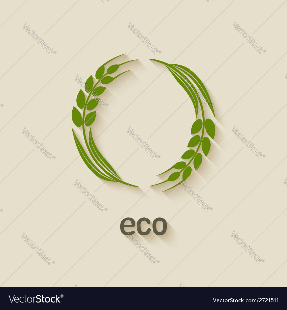 Wheat eco symbol vector | Price: 1 Credit (USD $1)