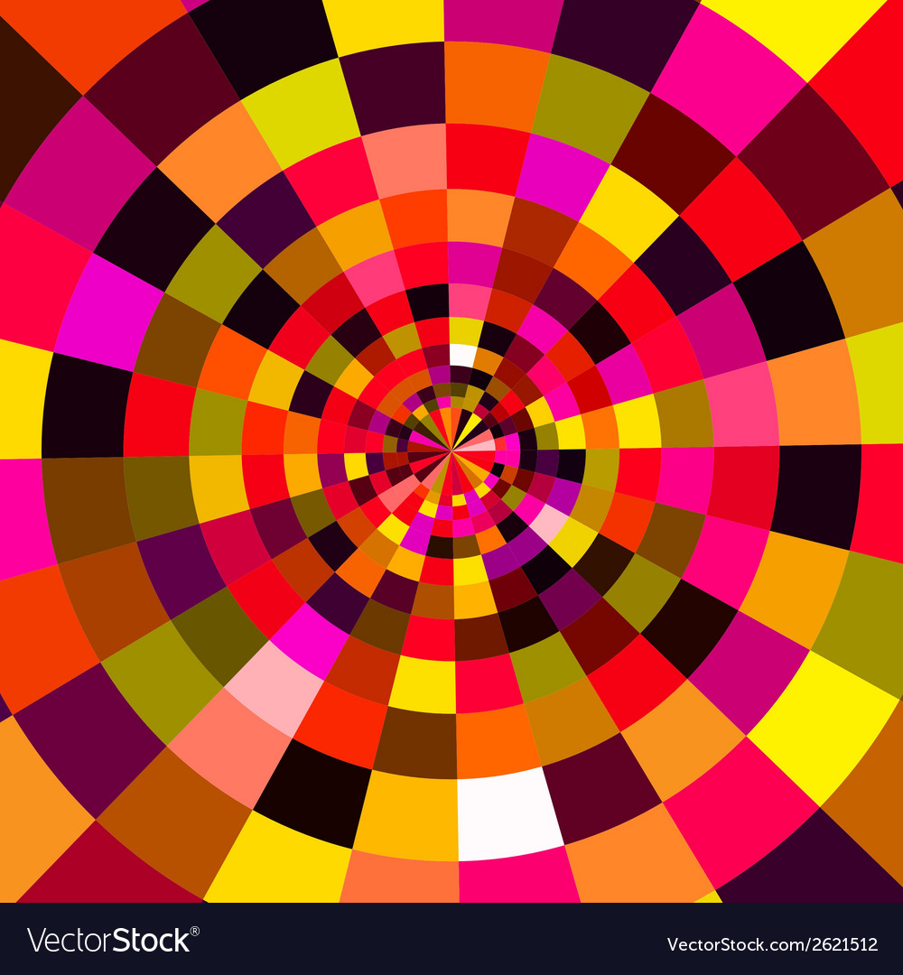 Abstract circular colorful background vector | Price: 1 Credit (USD $1)
