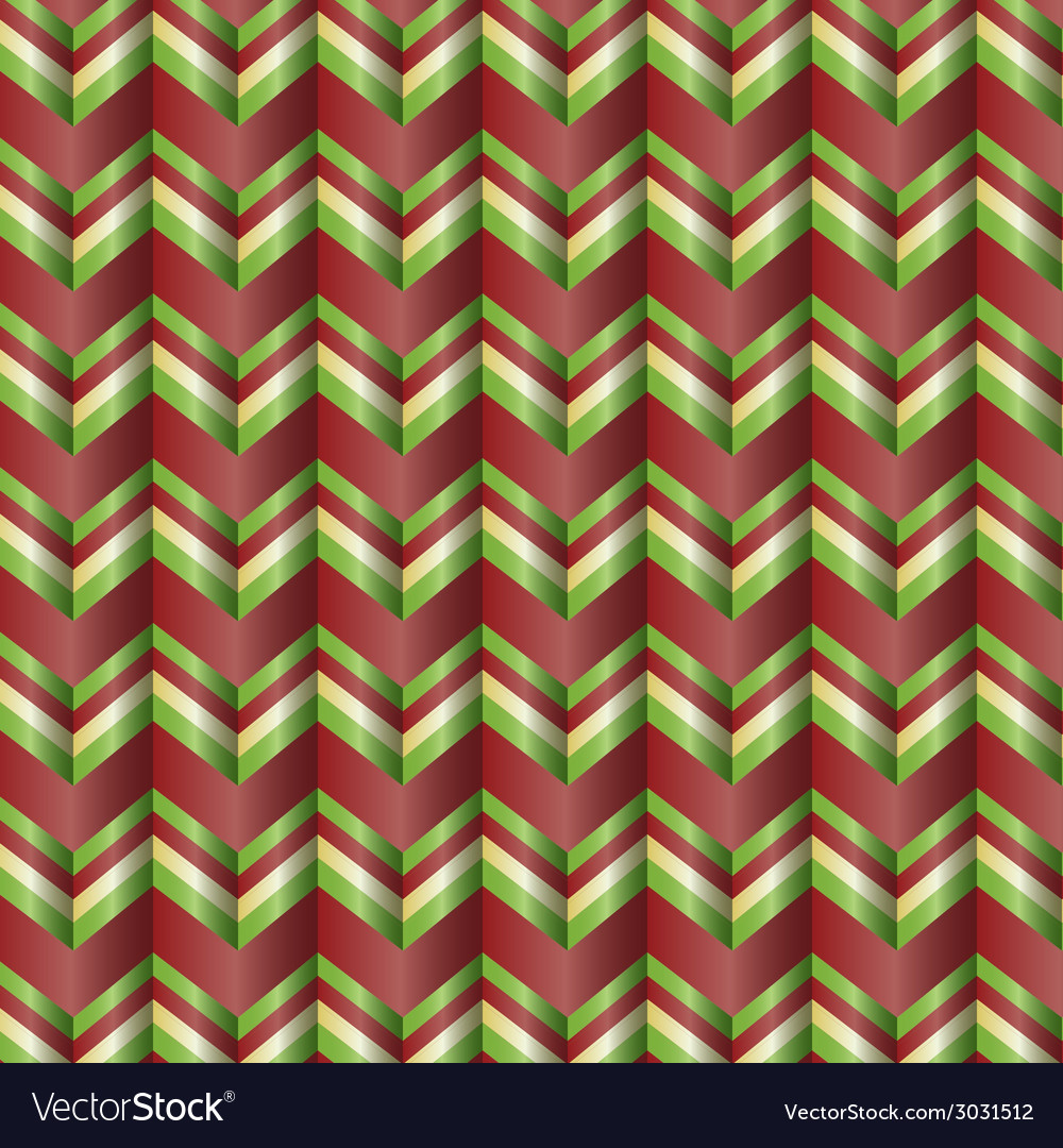Chevron holiday ribbon paper pattern vector | Price: 1 Credit (USD $1)