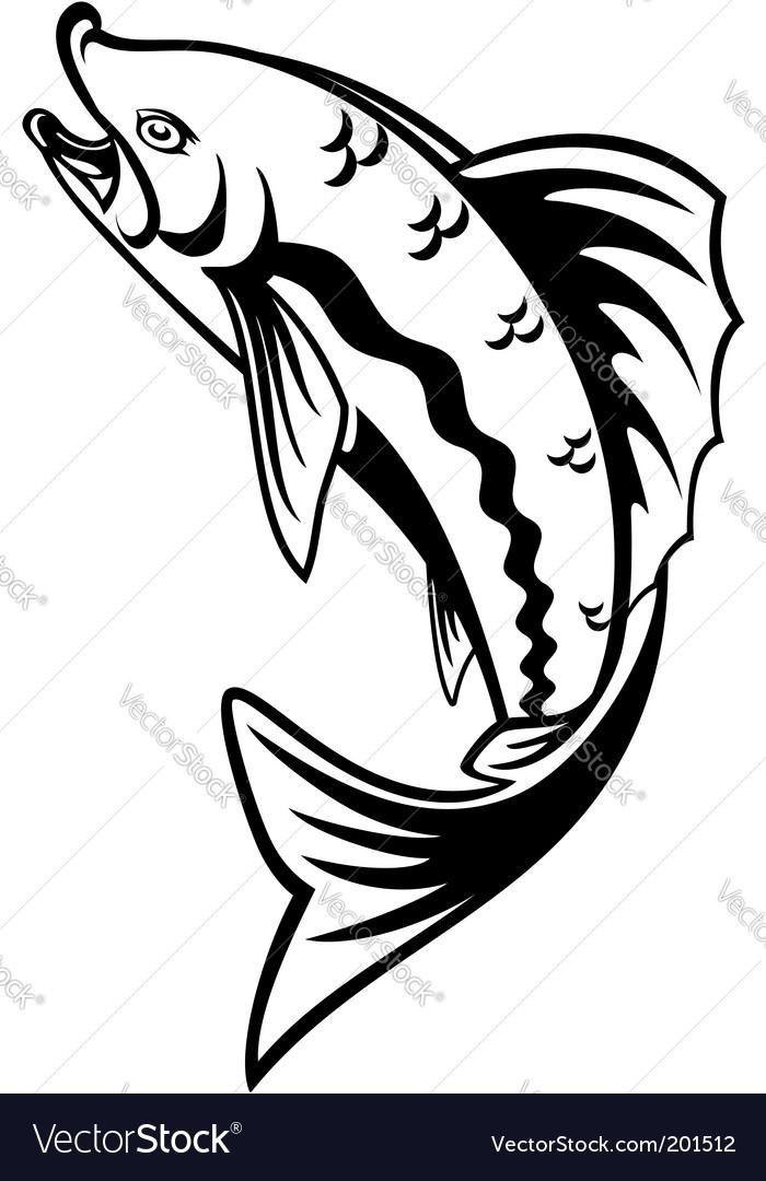 Fishing symbol vector | Price: 1 Credit (USD $1)