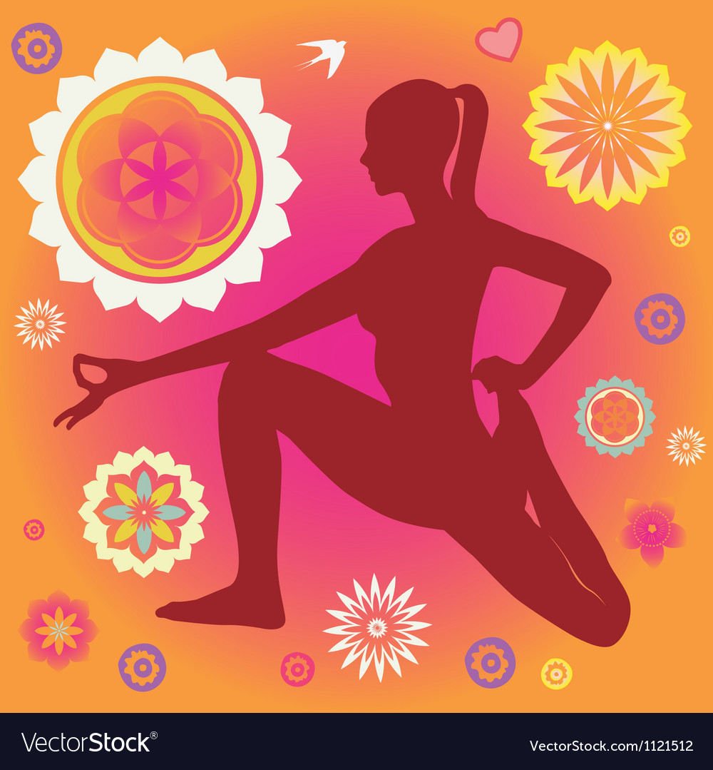 Floral yoga elements vector | Price: 1 Credit (USD $1)