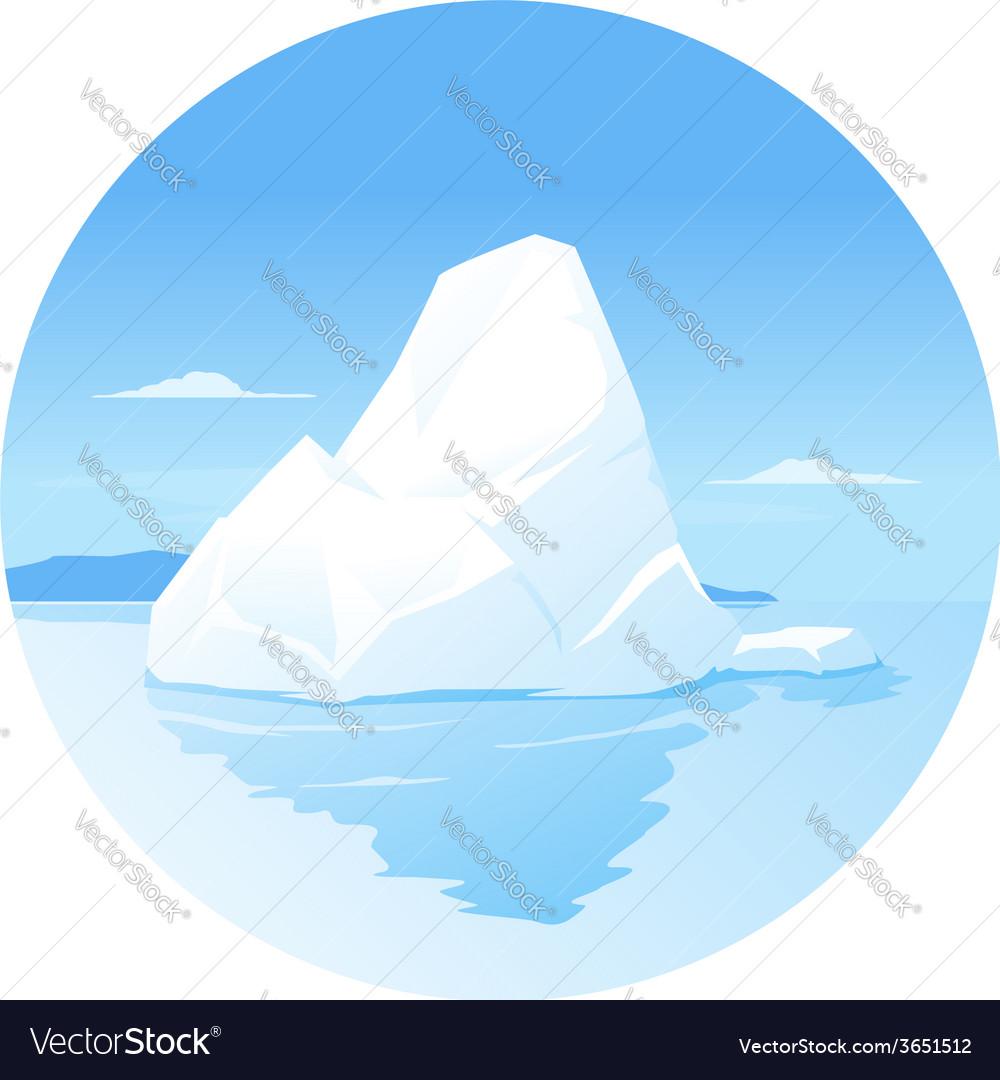 Iceberg vector | Price: 1 Credit (USD $1)