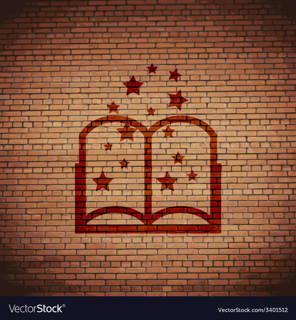 Magic book icon symbol flat modern web design with vector | Price: 1 Credit (USD $1)
