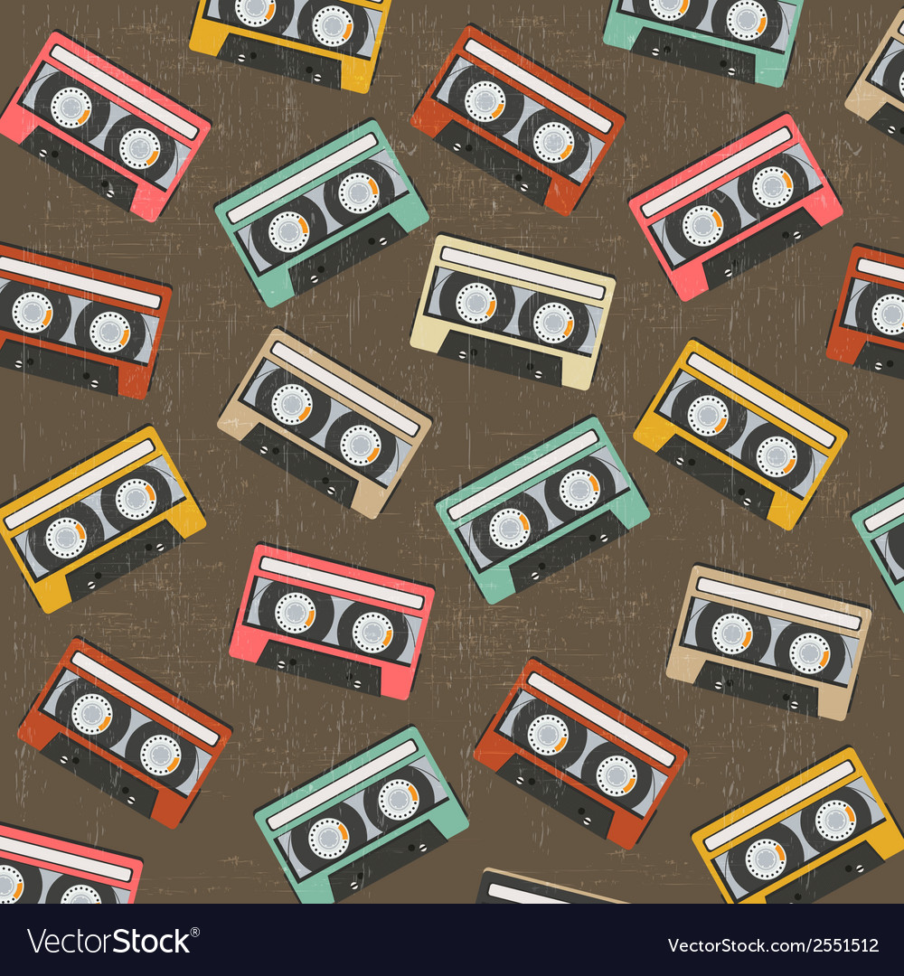 Seamless background with vintage analogue music vector | Price: 1 Credit (USD $1)