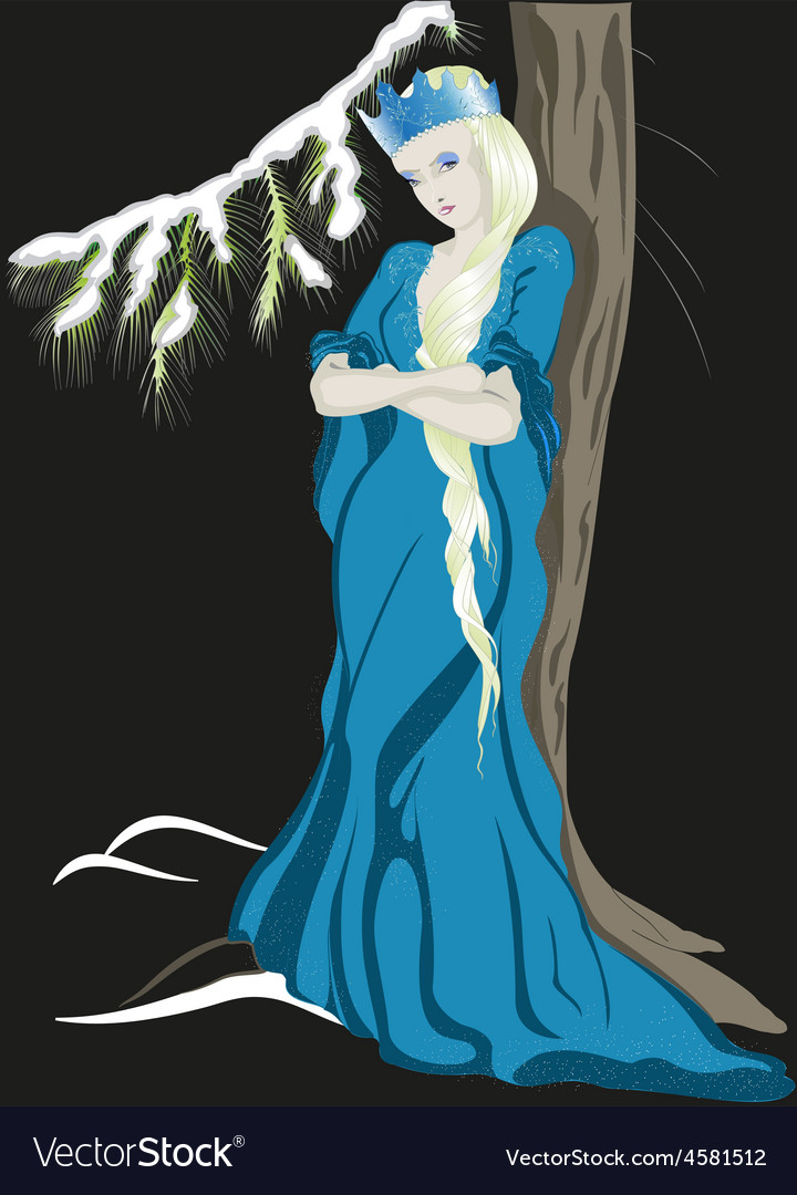 The snow queen with a crown eps10 vector   Price: 1 Credit (USD $1)