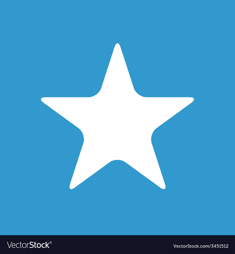 Star icon white on the blue background vector   Price: 1 Credit (USD $1)