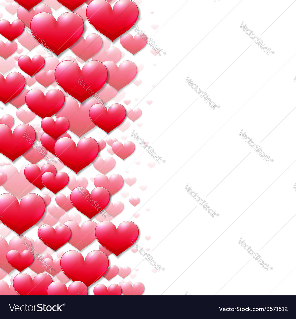 Valentines day card with scattered purple hearts vector | Price: 1 Credit (USD $1)