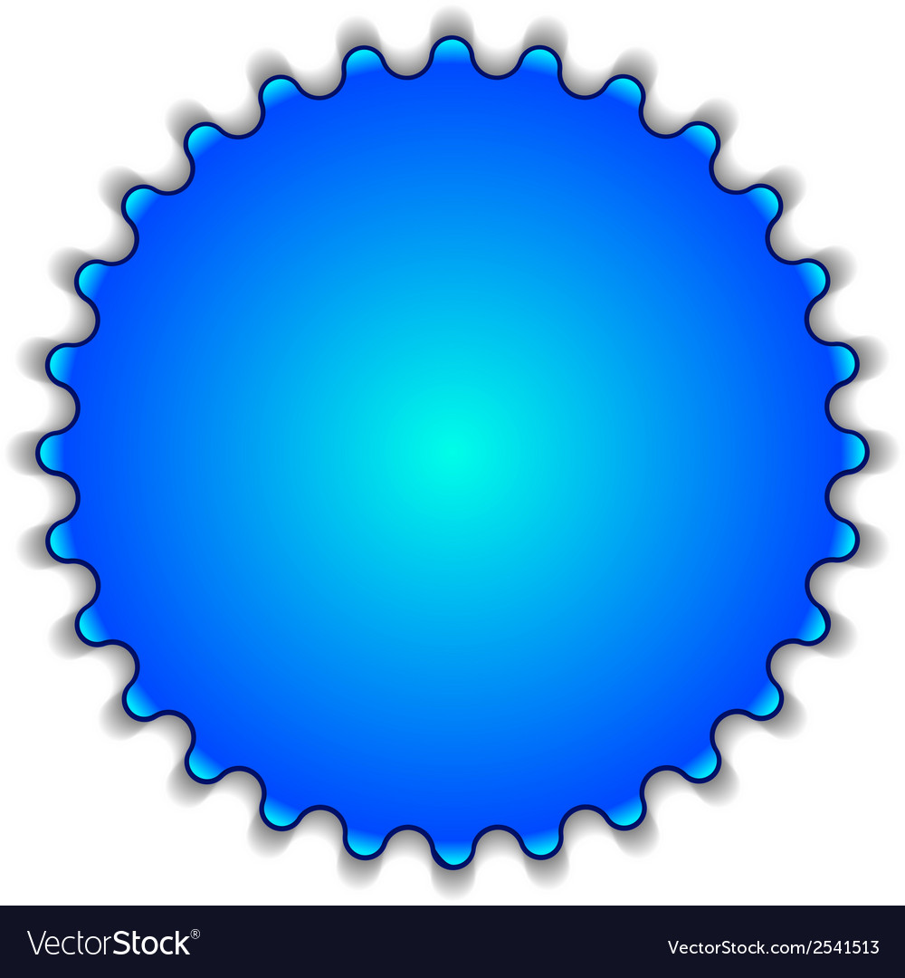 Big blue button labeled sale vector | Price: 1 Credit (USD $1)