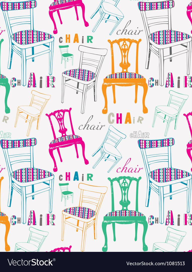 Chairs pattern vector | Price: 1 Credit (USD $1)