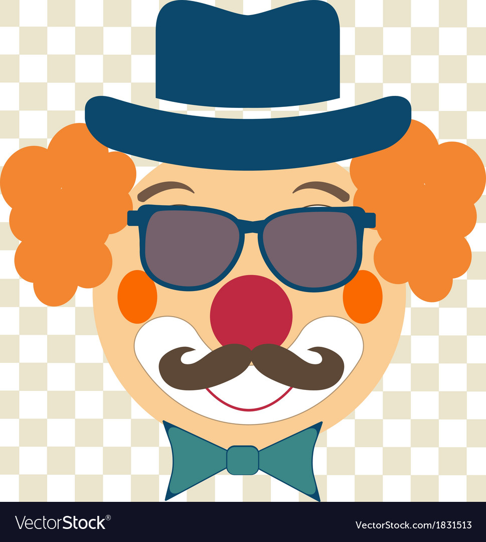 Clown face vector | Price: 1 Credit (USD $1)