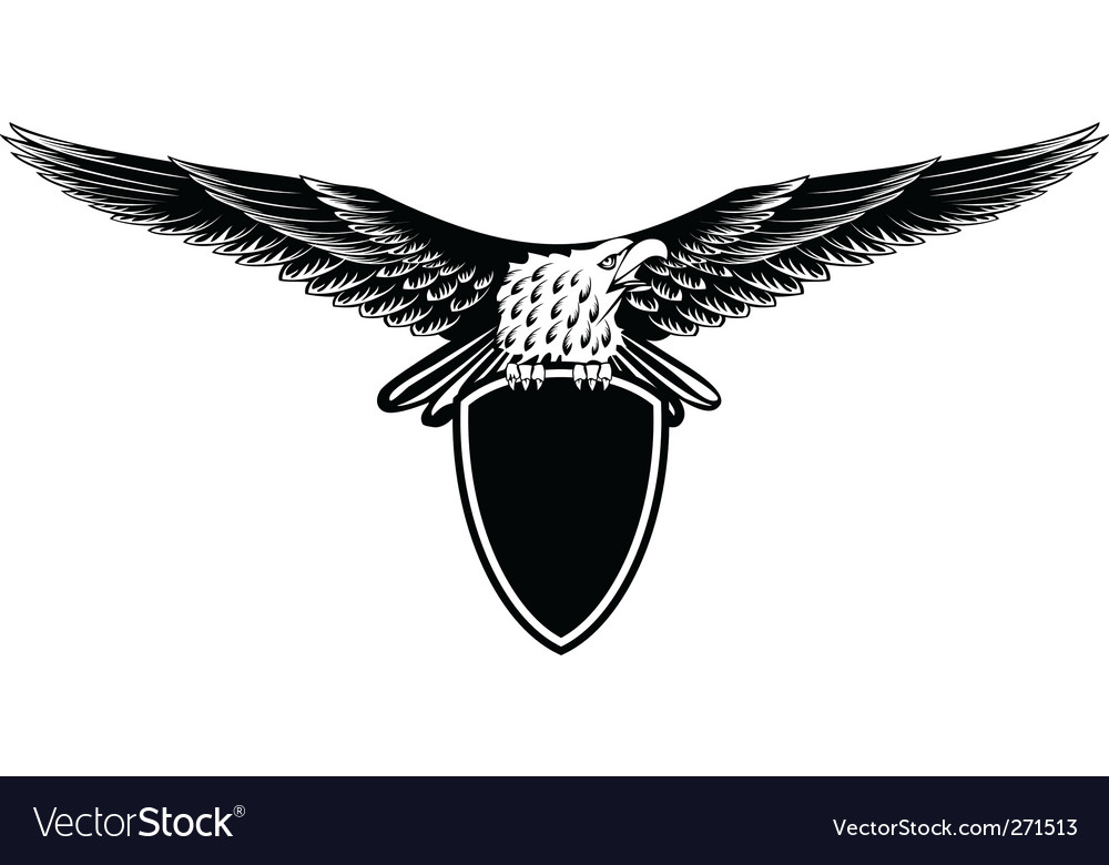 Eagle with straightened wings vector | Price: 1 Credit (USD $1)