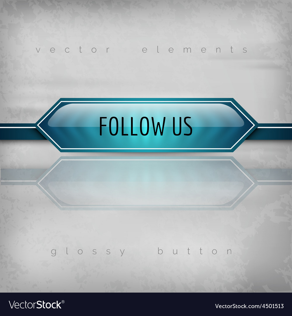 Follow us button vector | Price: 1 Credit (USD $1)