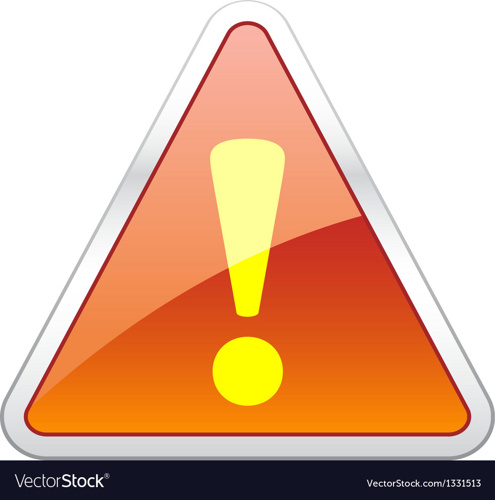 Hazard warning attention icon vector | Price: 1 Credit (USD $1)