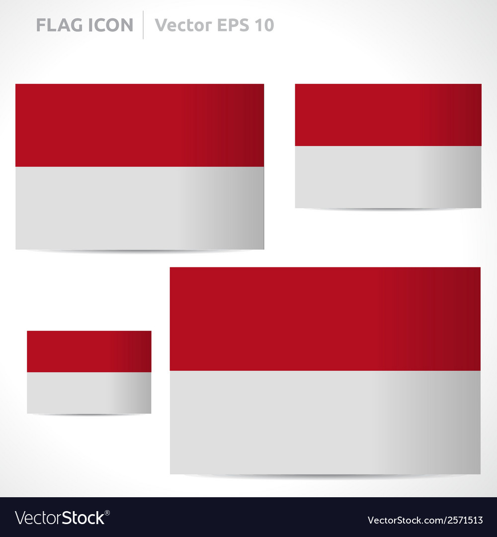 Indonesia flag template vector | Price: 1 Credit (USD $1)