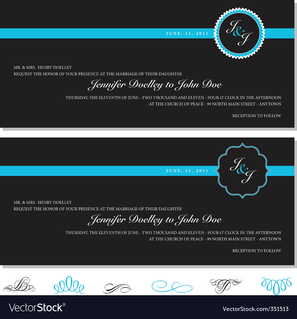Invitation set vector | Price: 1 Credit (USD $1)