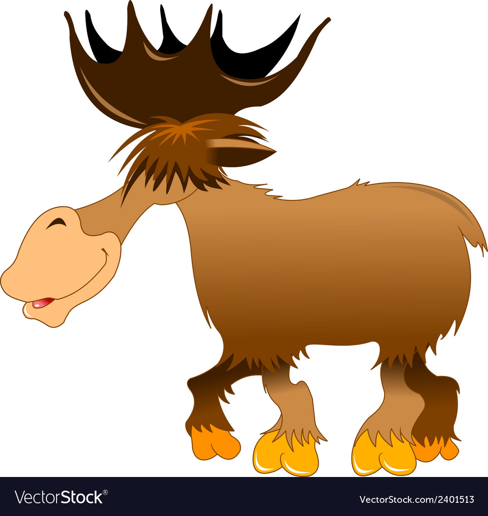 Moose cartoon vector | Price: 1 Credit (USD $1)