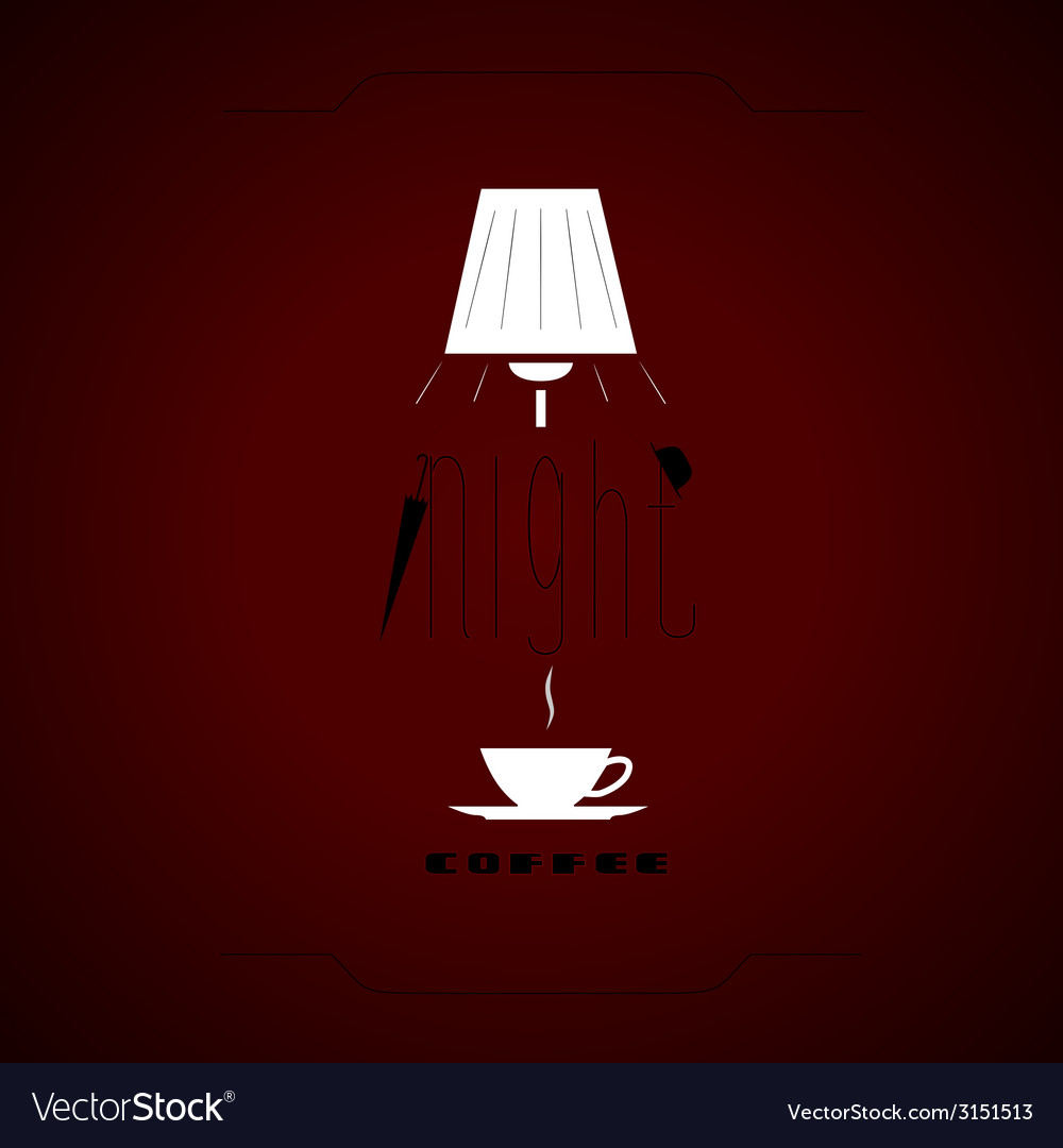 Night coffee vector | Price: 1 Credit (USD $1)