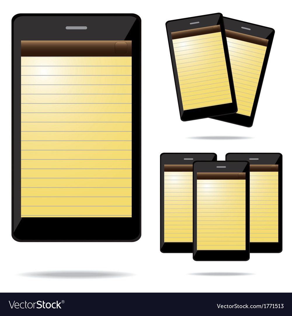 Note phone vector | Price: 1 Credit (USD $1)