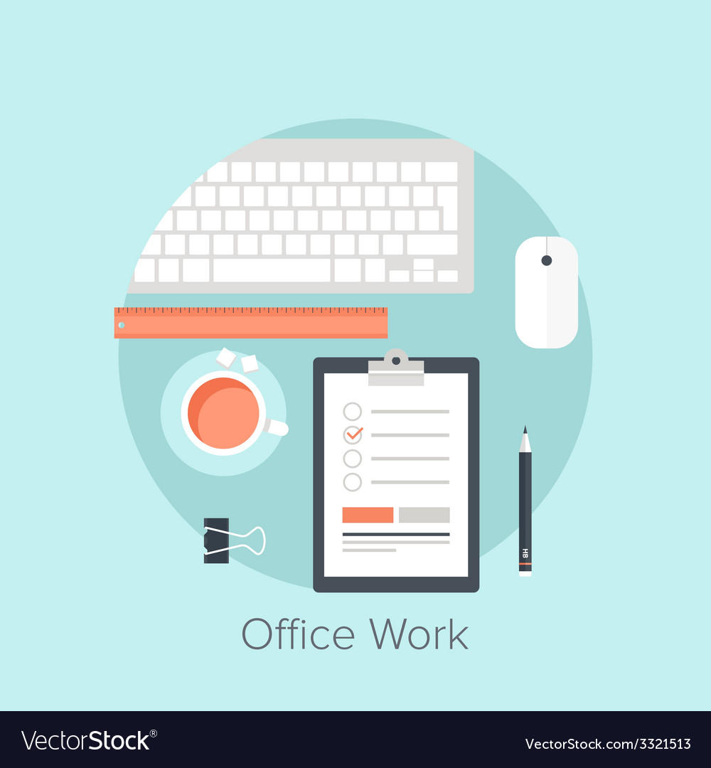 Office work vector | Price: 1 Credit (USD $1)