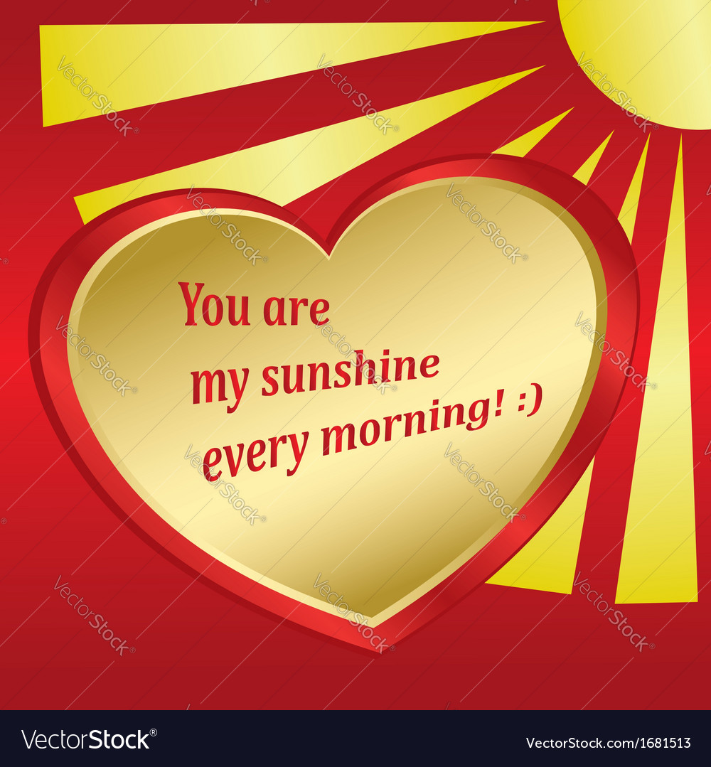 Romantic card with sun and heart vector   Price: 1 Credit (USD $1)