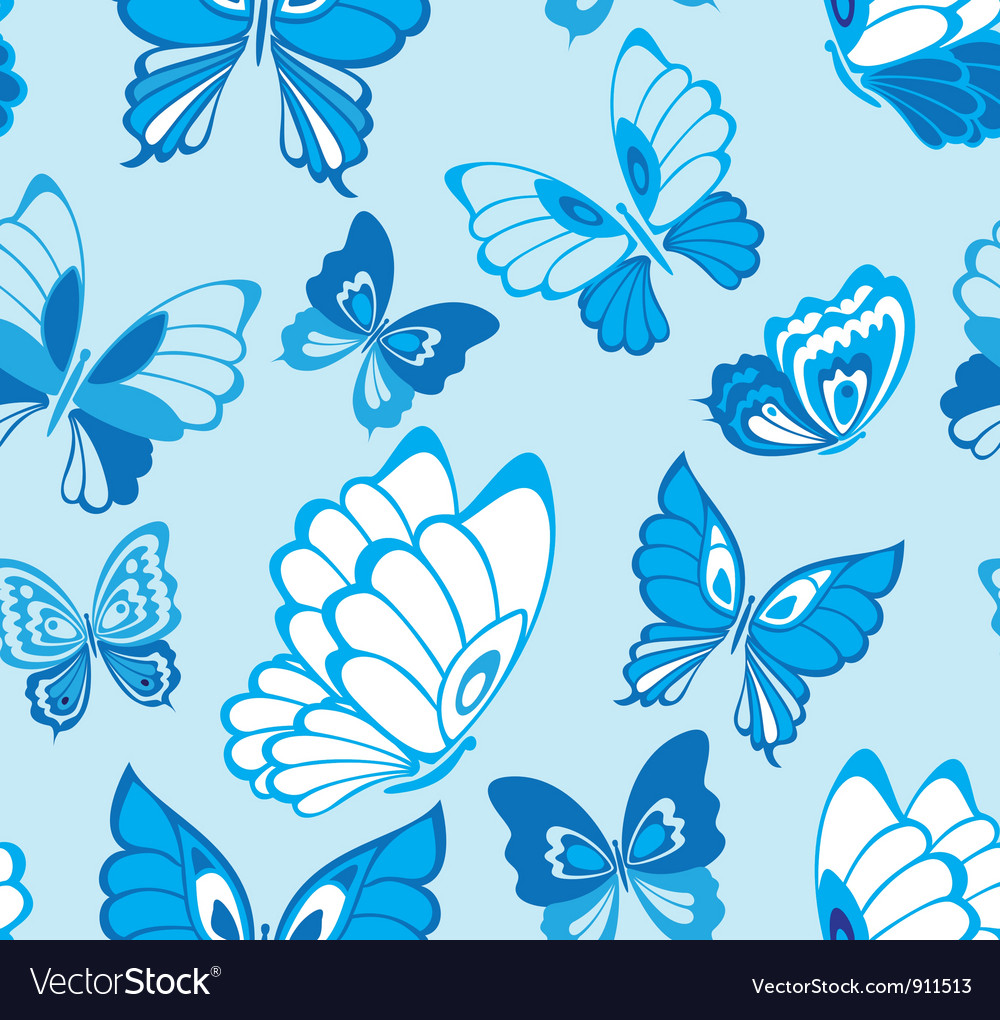 Seamless pattern with butterfly vector | Price: 1 Credit (USD $1)
