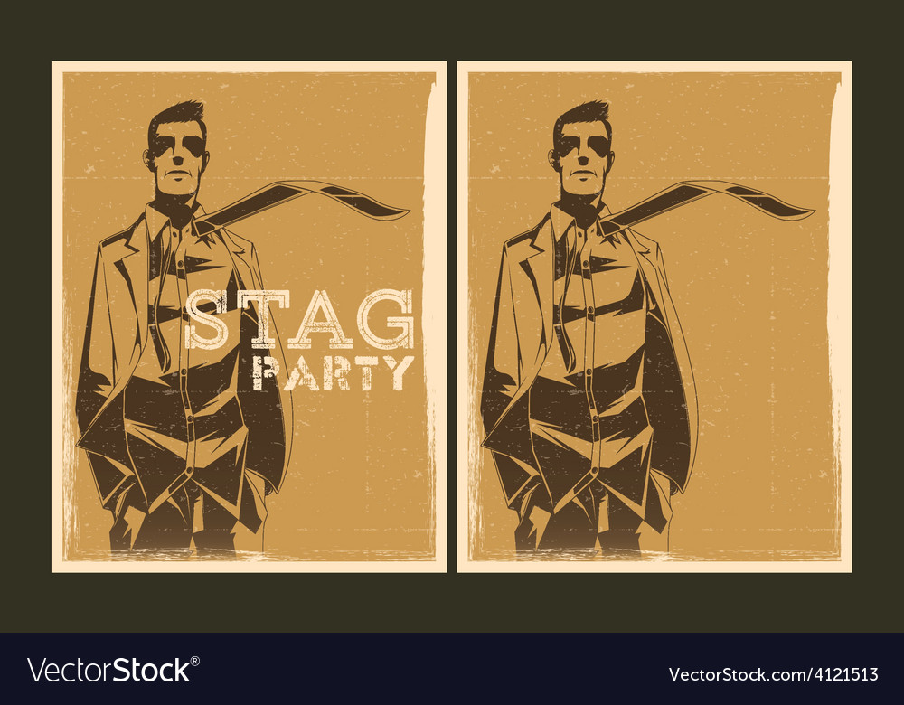 Set of stag party posters vector | Price: 1 Credit (USD $1)