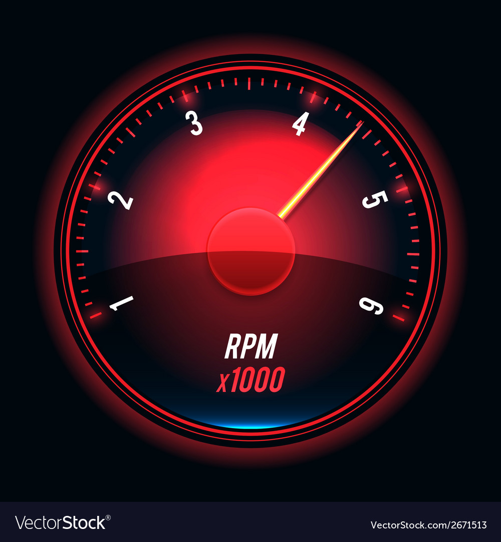 Tachometer vector | Price: 1 Credit (USD $1)