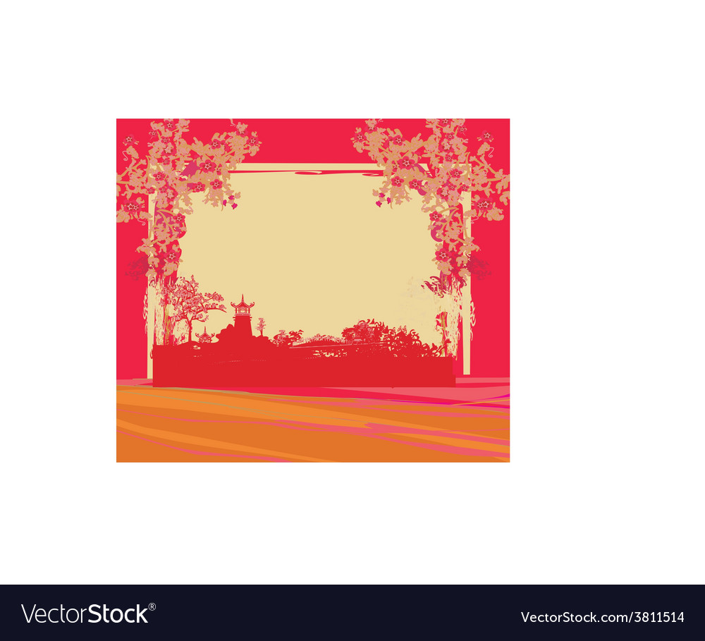 Abstract chinese landscape vector   Price: 1 Credit (USD $1)