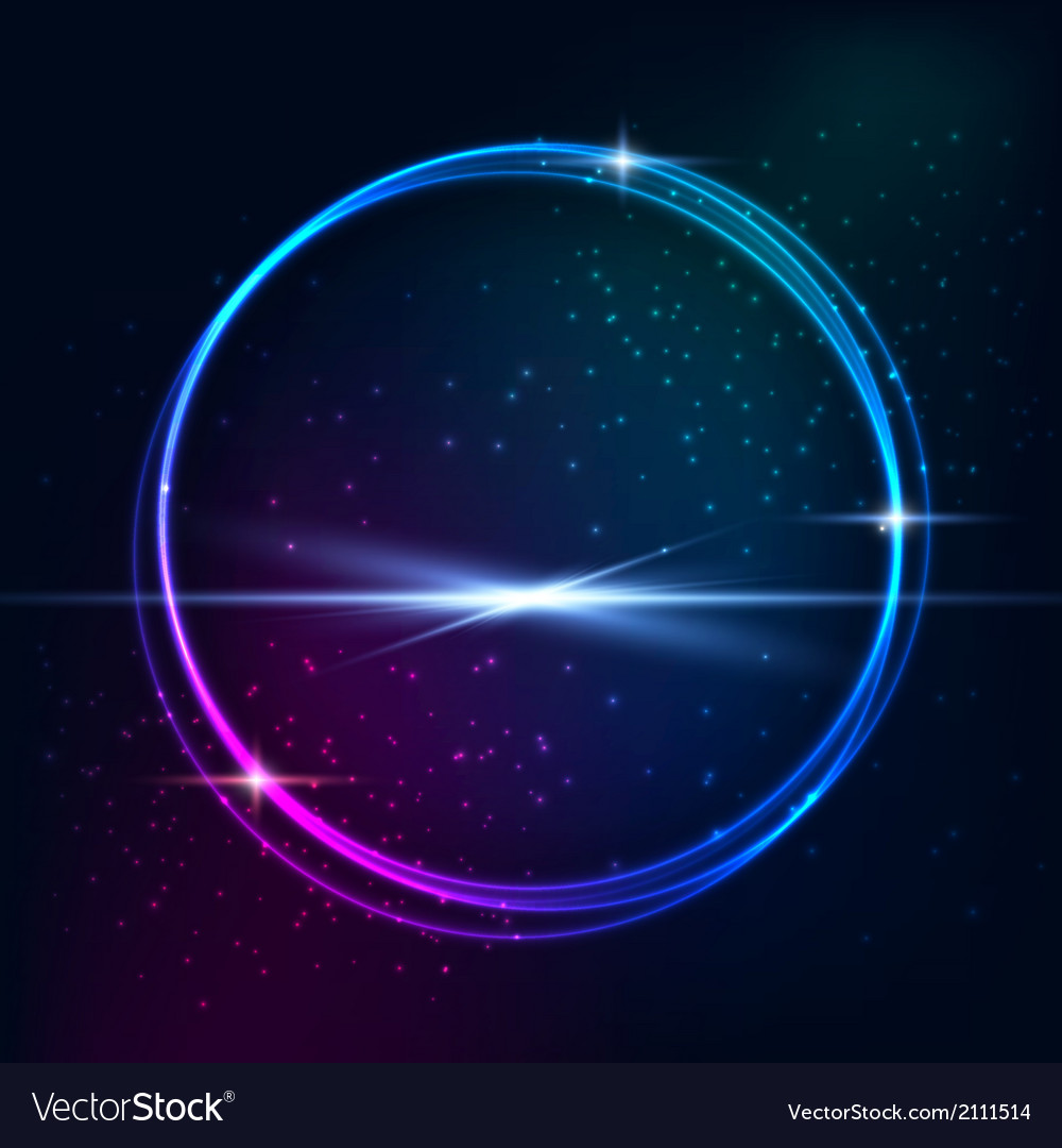 Blue light effects on round placeholder vector | Price: 1 Credit (USD $1)