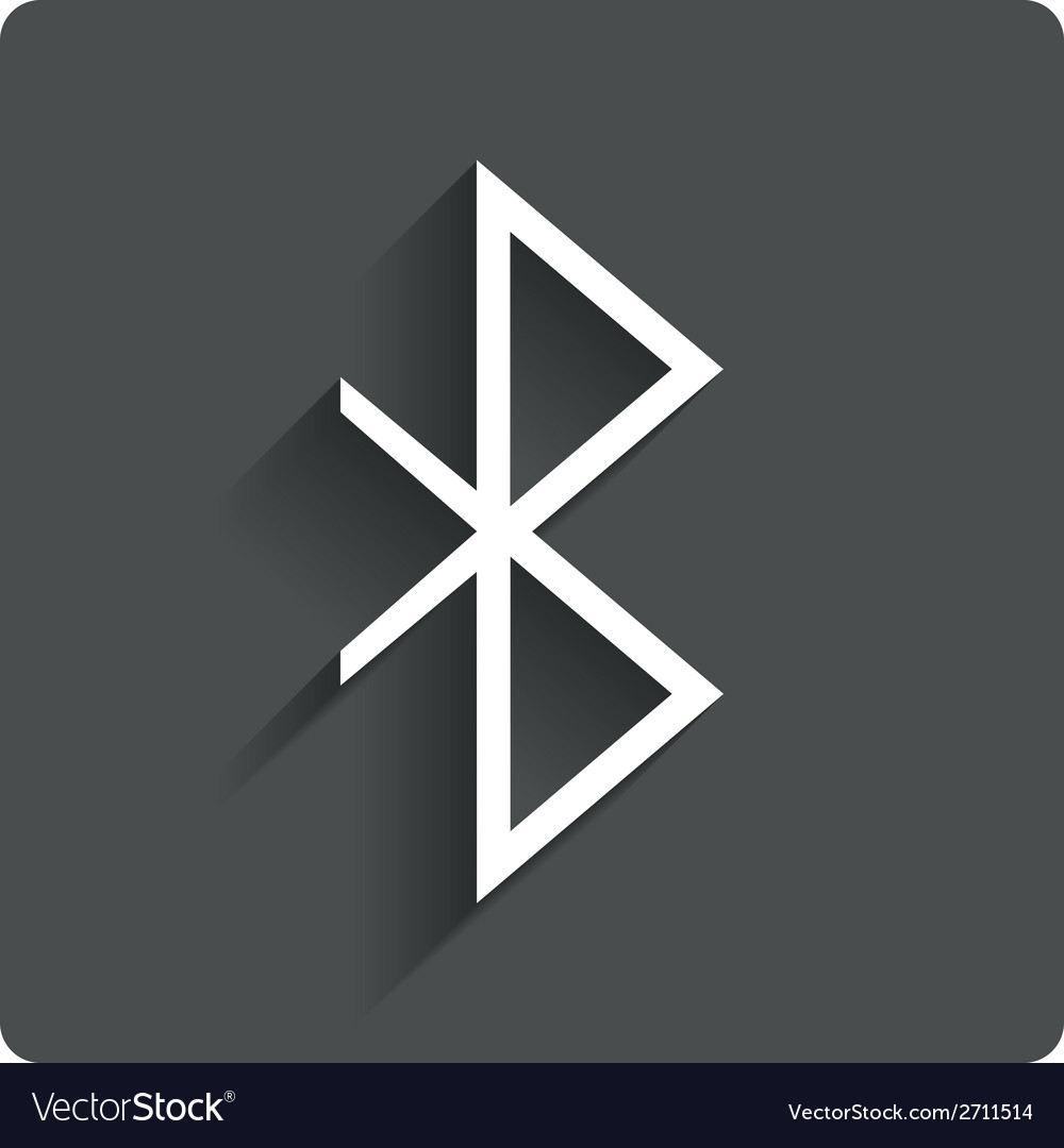 Bluetooth sign icon mobile network symbol vector | Price: 1 Credit (USD $1)