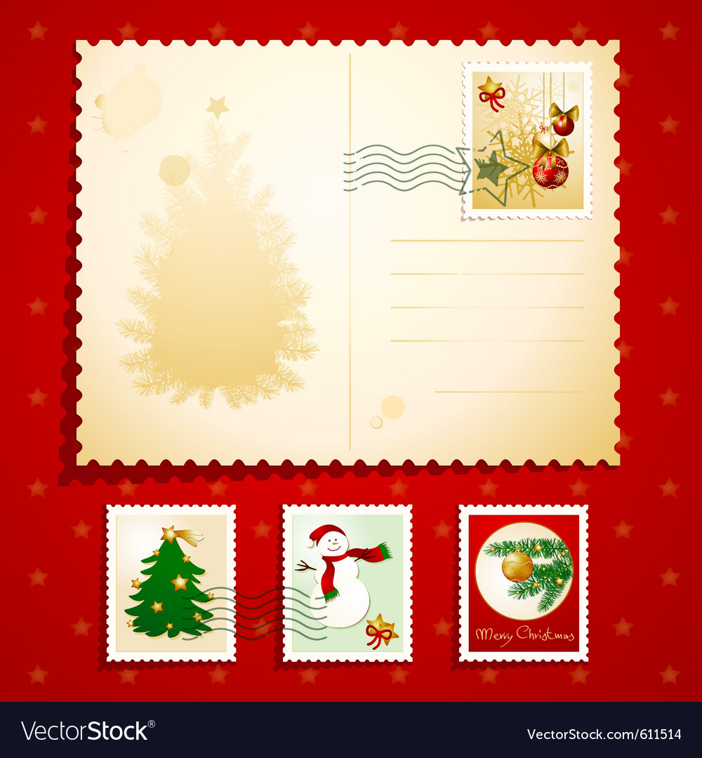 Christmas postcard vector   Price: 1 Credit (USD $1)