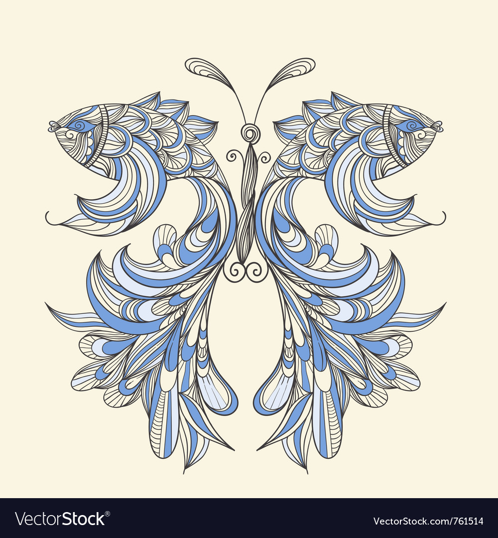 Concept butterfly vector | Price: 1 Credit (USD $1)