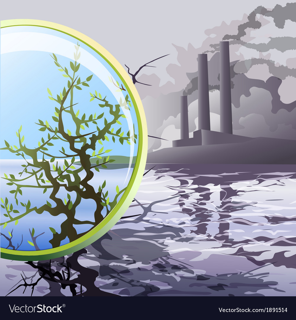 Ecological glass vector   Price: 3 Credit (USD $3)